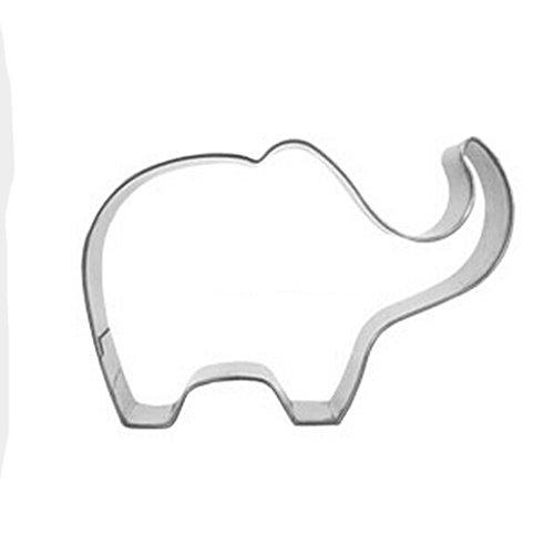 Yunko Lovely Animal Series Stainless Steel Cookie Cutter Fondant Cutter Puppy Cat Giraffe Elephant Rabbit Dolphin Bone Elephant