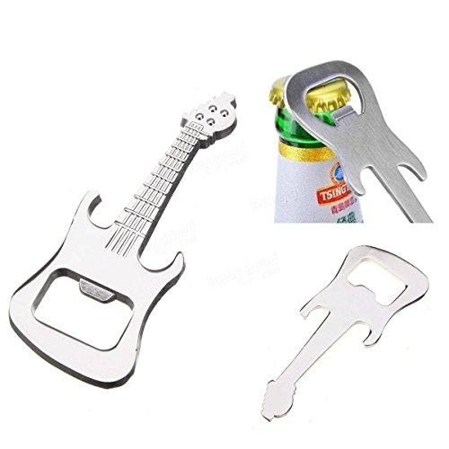 LTDD Creative Music Guitar Bottle Opener Beer Bottle Opener Silver