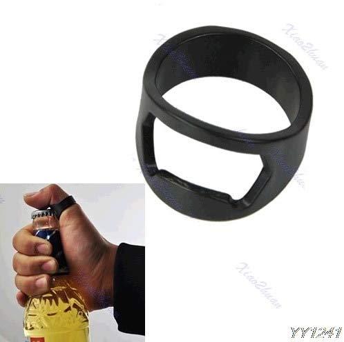 BOZLIZ - Openers - 10pcs Lot Stainless Steel Finger Ring Bottle Opener Beer Bar Black Y110 - Bottle Women Ring Opener Finger Black Penis Party Souvenir Banana Happy Corkscrew Knife Gift Birthday Beer