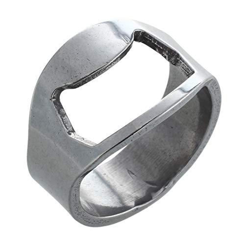 Qmsellz - Finger Ring Bottle Opener - 2x Stainless Steel Finger Ring Bottle Opener Beer - Bottle Opener Ring Finger