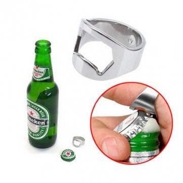 Stainless Steel Finger Ring Bottle Opener Bar Beer Tool