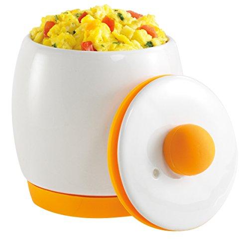 Allstar Innovations As Seen on TV Egg-Tastic Microwave Egg Cooker and Poacher for Fast and Fluffy Eggs WhiteOrange