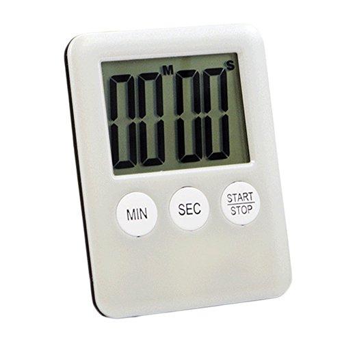 Functional Electronic Digital Timer Kitchen Timer White