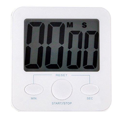 Quadrate Utility Functional Electronic Digital Timer Kitchen Timer White