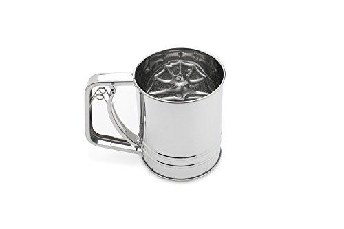 Fox Run 4653 Flour Sifter Stainless Steel 3-Cup