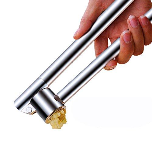 Poeland Stainless Steel Garlic Presser Extended Garlic Press Garlic Mincer Garlic Crusher
