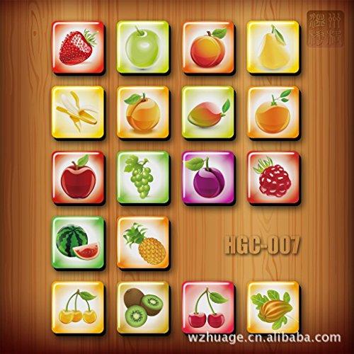 A Little Lemon Fruit Design Square Fridge Magnet 18 styles
