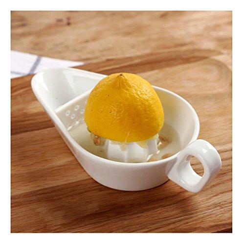 Ceramic Citrus Squeeze Manual Juicer with Strainer for Kitchen Lemon Fruit
