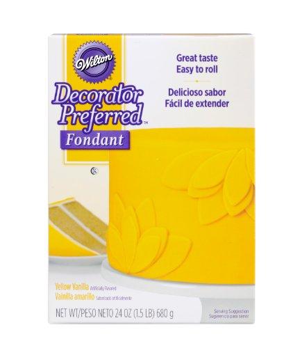Wilton 710-2308 Decorator Preferred Fondant 24-Ounce Yellow