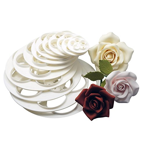 Chunshop Fondant Cake Sugarcraft Rose Flower Decorating Cookie Mold Gum Paste Cutter Tool