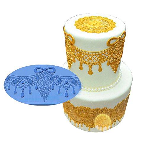 Joinor Silicone Retro Cake Lace Mat Curtain Cake Decoration Fondant Lace Embossing Cake DIY Molds
