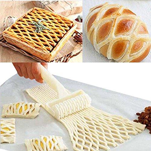 Bihood Pizza Cutter Pizza Dough Roller Fondant Roller Cake Ball Roller Cake Pop Roller Easy Cake Pop Roller Fondant Cutter Strip Embosser Roller Cake Decorating DIY Mould
