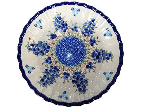 Lidias Polish Pottery 251212B Plate Blueberry Polish Pottery Pie Baker 10 Blue