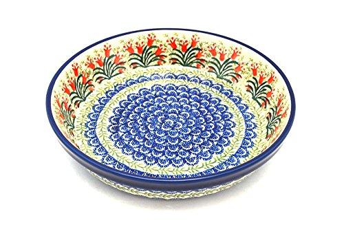 Polish Pottery Baker - Pie Dish - Crimson Bells