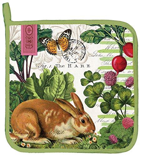 Michel Design Works Cotton Potholder Garden Bunny