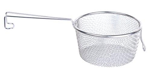 Maxware 7'' Stainless Steel Long Handle Deep Frying Mesh Basket