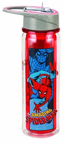 Vandor 26710 Marvel Amazing Spider-man 18 oz Tritan Water Bottle Blue and Red