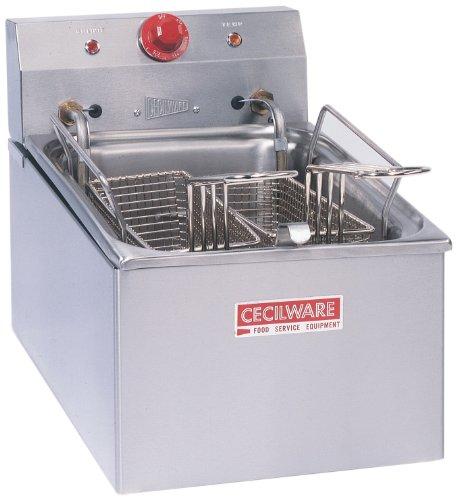 Grindmaster-cecilware El250 Countertop Medium Duty Simple Plug Higher Voltage Electric Fryers, 15-pound