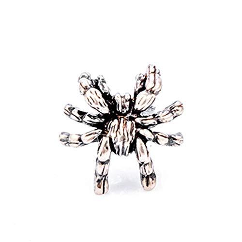 Silver Accessory Good Fine Accessories Women Stylish Design Bright Designer Novelty  925  Vintage Dark Spider Earring Tarantula Jewelry Stud Earrings