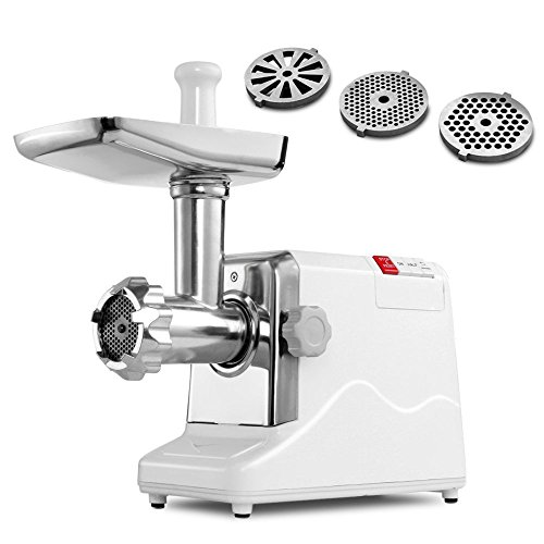 Della© Meat Grinder Electric 2.6 Hp 2000 Watt Hd Professional Home Sausage Stuffer Maker Food Mincer Slicer Mills