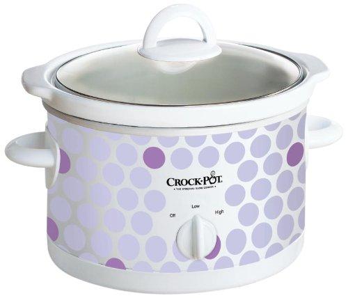 Crock Pot Scr250-polka 2-1/2-quart Slow Cooker, Polka Dot Pattern