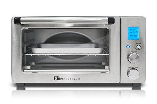 Elite Platinum ETO-1231 Maxi-Matic 6-Slice Programmable Countertop Convection Oven SilverBlack