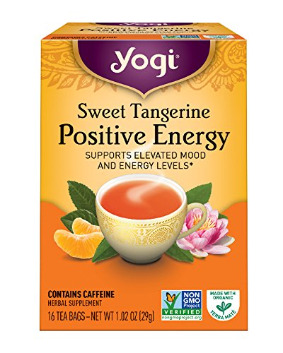 Yogi Sweet Tangerine Positive Energy 16 Tea Bags Packaging May Vary