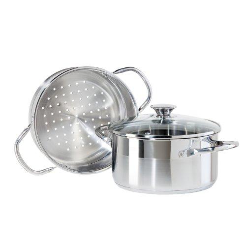 Oggi 56250 3-Piece Stainless Steel Vegetable Steamer Set