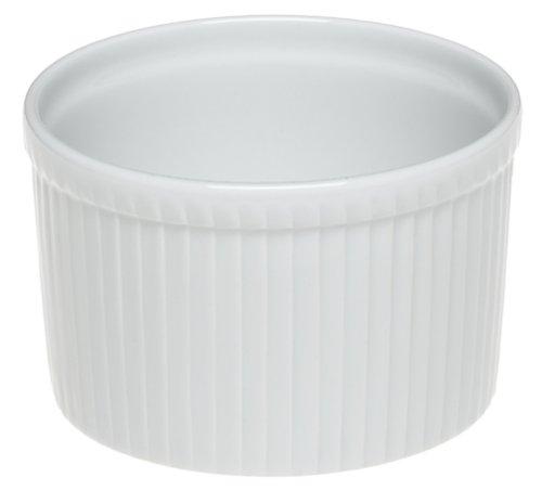 Pillivuyt Porcelain 8-cup, 7-1/4-inch Deep Classic Pleated Souffle Dish
