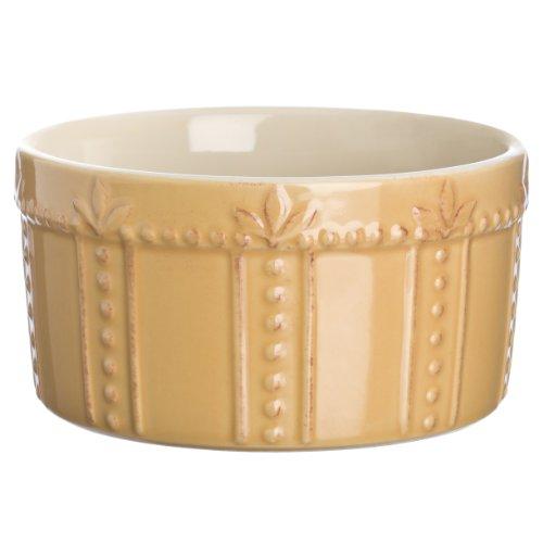 Signature Housewares Sorrento 16-ounce Stoneware Souffle Dish, Gold