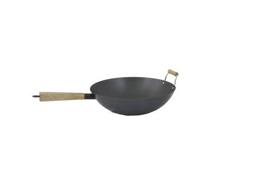 Cook Pro 511 Professional Heavy Duty Carbon Steel Wok, 14-inch
