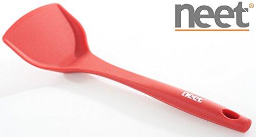 "Neet® Premium Silicone Wok Spatula Turner 12"" Inches (cherry Red)"
