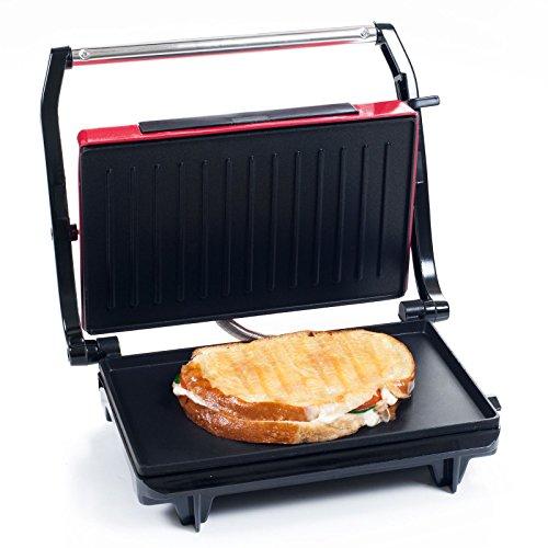 Chef Buddy Non-Stick Grill and Panini Press - Red