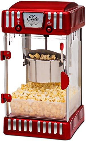 Maxi-Matic EPM-250 Tabletop Kettle Popcorn Popper Machine Red
