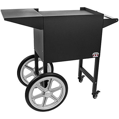 Concession Land - Black Popcorn Cart for 8 oz Popcorn Machine