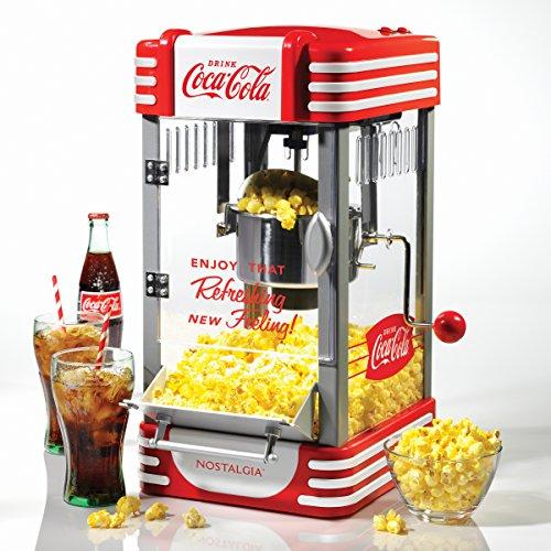 Nostalgia RKP630COKE Coca-Cola 25-Ounce Kettle Popcorn Maker