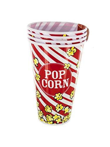 StealStreet SS-KI-OF891 Red Popcorn Bucket Cups Set