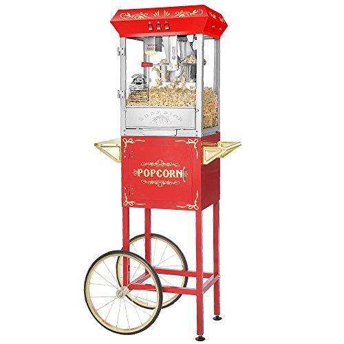 Superior Popcorn 8 Ounce Carnival Popcorn Popper Machine Cart 8 oz