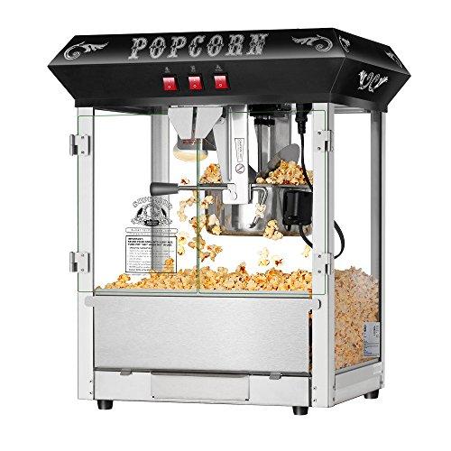 Superior Popcorn Company 4635 Hot and Fresh Countertop Style Popper Machine 8 oz Black