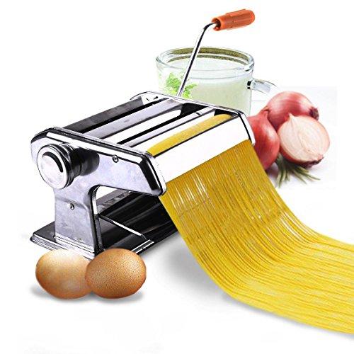 Chrome Adjustable Pasta Maker & Roller Machine Noodle Spaghetti & Fettuccine Maker New