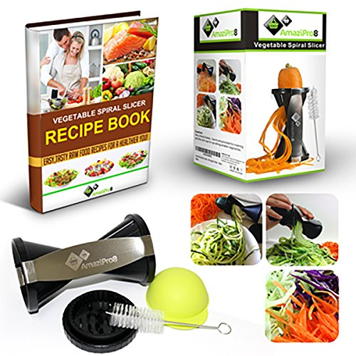 Spiralizer Best Vegetable Pasta Maker, Make Veggie Spaghetti, Zucchini Noodles, Cut Spiral Vegetables Super Easy