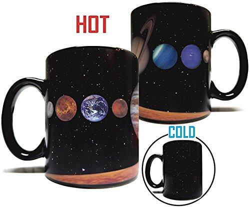 The Rising Sun Solar System Planets 11oz Color Changing Heat Sensitive Mug - Grade A Ceramic - Perfect Educational  Science  Fun Cool Mug Gift