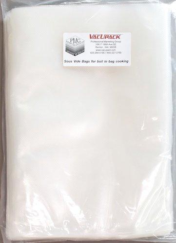 VacUpack Superior Sous Vide Vacuum Seal Pouches 100 Count Large Bags
