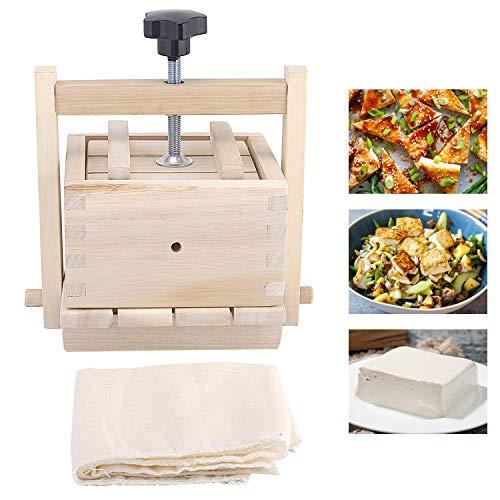 Inkesky Tofu Maker Press 2-In-1 Kit Made Of Wood