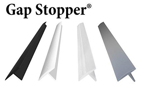 Original Gap Stopper Black Professional Grade FDA Heavy 72 oz Silicone Set of 2 Covers Gap between Stove Countertop Black