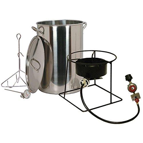 King Kooker Stainless Steel Turkey Fryer Kit w 30 qt Pot Propane Burner - CFP