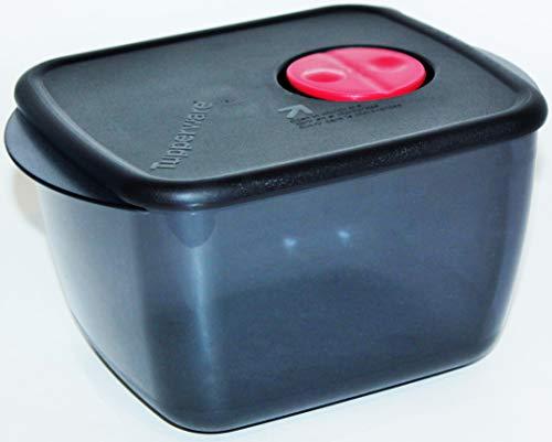 Tupperware Rock N Serve Medium Deep 625 Cup Microwave Container Black Red