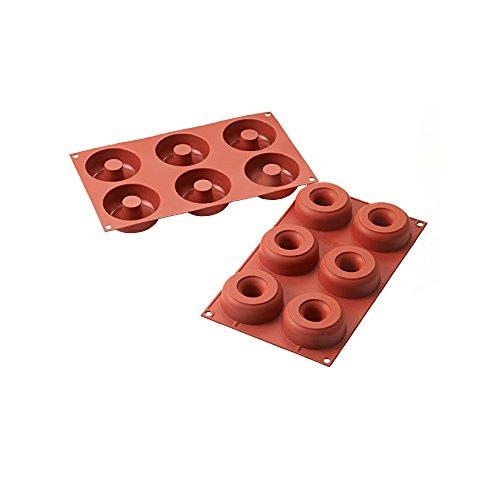 Silikomart Professional Sf170 Silicone Mold, Donuts