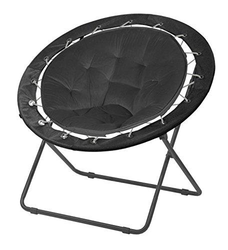 Urban Shop Bungee Saucer Chair 30 Black