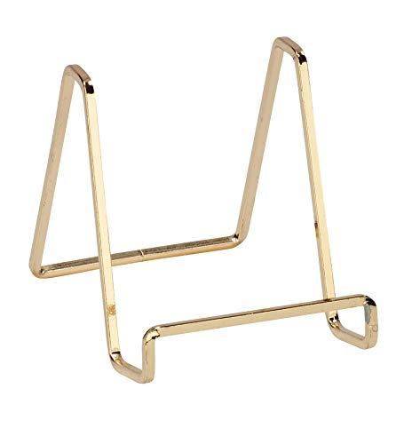 Tripar 4 Metal Brass Plated Square Wire StandPlatter StandEasel Display